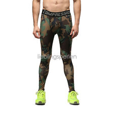 Men's GYM Compression Running Pants Tights Camouflage Sport Trainning Trouser