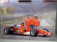 PHOTO cm 21x30 FERRARI 248 F1 launch MUGELLO Schumacher Badoer Massa JAN 24 2006