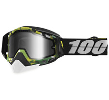 100% RACECRAFT BOOTCAMP SNOW GOGGLES GREEN FRAME SILVER LENS SNOWMOBILE MX DIRT