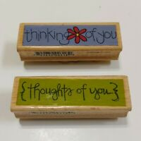 Studio G Kolette Hall Wood Rubber Stamp (2) Thinking of You, Thoughts of You