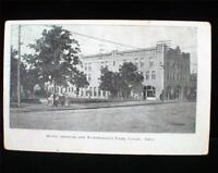 1909 Logan Ohio Hotel Ambrose & Worthington Park Postcard