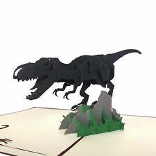 Handmade 3D Dinosaur T-Rex Pop Up Boys Birthday Card UK Seller