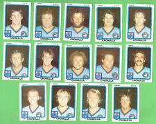 1981 SCANLENS RUGBY LEAGUE CARDS - CRONULLA SHARKS