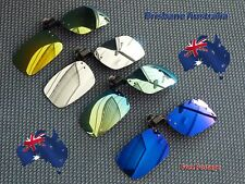 Clip On Sunglasses UV400 Polarized Coloured Gold Silver Blue Green