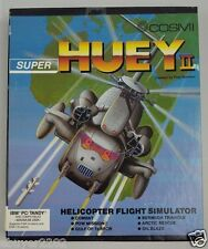 SUPER HUEY 2 PC Video Game 1988 - Vintage IBM Tandy Helicopter Flight Sim II