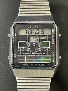 Vintage rare CITIZEN Quartz Digital Men's DO-5012 GN-4-S watch R5