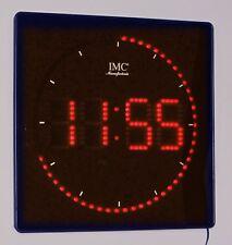 LED - Wanduhr mit Zahlen rot quadratisch digital Uhr Datum Temperatur Alarm P
