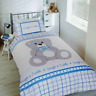 Rapport Snuggle & Cuddle Teddy Bear Kids Children's Duvet Cover Bedding Set Blue