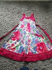 Monsoon Summer Dress Flary Age 6-7 Years Floral Tie Waist