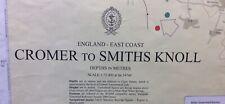 ADMIRALTY SEA CHART. No.106. CROMER to SMITH'S KNOLL. ENGLAND East Coast. 1974