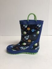 Kamik Galaxy Navy Rubber Boots Little Kids Size 11M, Waterproof
