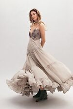NWT Free People Lost In A Dream Maxi Dress Gown Size 12