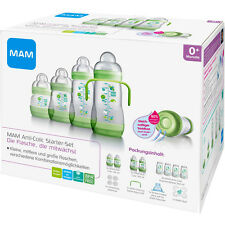 MAM Anti-Colic STARTER SET 15-teilig Anti-Kolik Flaschen Set Selbststerilisation