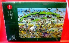 SAFARI Heye Calligaro 1500 pc Jigsaw Puzzle+Poster NEW SEALED Animals/Cartoon