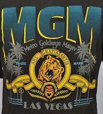 VTG MGM Las Vegas T-Shirt 50/50 Blend XL Made in USA Soft Thin Black Grand