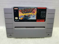F-Zero (SNES, 1991) SUPER NINTENDO SNES TESTED WORKS FREE SHIP CLEANED POLISHED