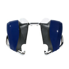 Blue Lower Fairing Assembly w Mustache Crash Bar For Indian chieftain dark horse