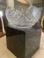 Lismore Waterford Crystal 9in diameter and 5in tall fluted bowl.