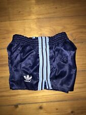 Vintage Adidas Beckenbauer Sporthose D4 Sprint Shorts Pant Shiny Navy WM Deluxe