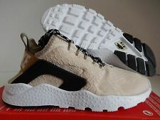 WMNS NIKE AIR HUARACHE RUN ULTRA SE OATMEAL-KHAKI-BLACK SZ 12 [859516-100]
