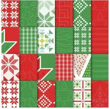 Stampin Up! Quilted Christmas 6�x6� Designer Series Paper Retired 1 Sheet Cut