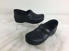 Dansko Black Slip-on Clogs Textured Leather Nursing Medical Work Shoes Size 39