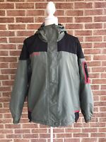 Columbia Sport Women's Puffer Hooded Coat Jacket Green Black Red Size Large