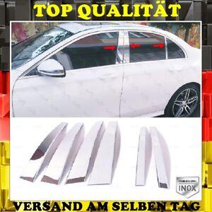Chrome B Pillar Trim 6 PCS Stainless Steel Mercedes E Class W213 Sedan 2016+