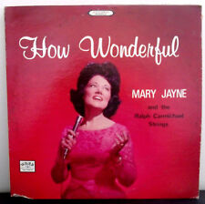 Mary Jane and the Ralph Carmichael Strings How Wonderful Gospel Music LP Album