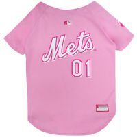 New York Mets MLB Officially Licensed Dog Pet Girl Pink Jersey Sizes XS-L