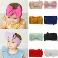 Newborn Baby Girls Kids Big Bow Headband Hairband Stretch Turban Knot Head Wrap