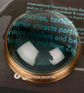 Antique Nautical Magnifying Glass Chart Reader Paper Weight office Decor Gift