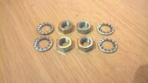 ROVER P6 FRONT FLEXIBLE BRAKE HOSE STAINLESS STEEL SECURING NUTS & LOCK WASHERS