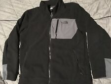 Mens The North Face Black Gray Fleece Jacket L Full Zip Polo Sport Marmot Denali