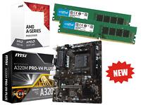 AMD Quad Core Gaming Motherboard CPU Bundle 16GB RAM Pre-Assembled