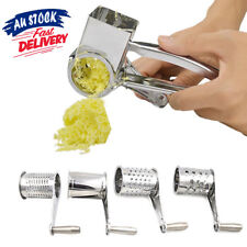 Multifunction Rotary Cheese Grater Hand Held Cut Slicer 4 Set Stainless Steel