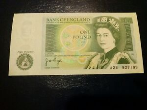 £1 note one pound note in mint condition