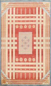 Geometric Modern Gabbeh Kashkoli Oriental Area Rug Hand-knotted Wool Carpet 6x8