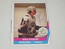 MIKE ROGERS AUTOGRAPHED 1977-1978 OPC O-PEE-CHEE WHA CARD