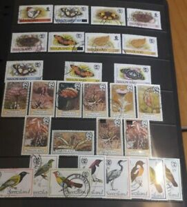 Swaziland Fine Used Selection of Commemorative Stamps 43 in total