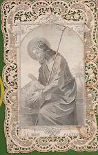 312 Gesù le bon pasteur canivet  santino holycard smerlettato