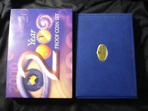 Australian 2000 Proof Coins Proof Set IN RAM Box 5 10 20 Colour 50 Cents $1 $2 .