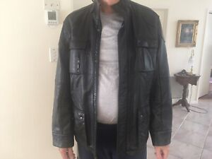 Mens CALVIN KLEIN Black Leather Jacket, Size XXL, NEW Without Tag, RRP $899