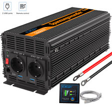 Power Inverter 3000w 6000W12V 230V 240V Converter Remote and 2* 2.1A USB Ports