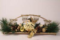 Adventskranz Tischkranz Weihnachten Advent Gesteck Winter Schwibbogen