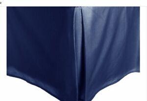 "1PC SATIN BED SKIRT SOLID TAYLORED BEDDING DRESSING  PLATFORM 14"" INCH DROP"