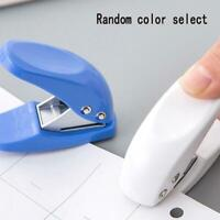 1 Paper Punch Zange Scissor Einhand Loch Office Metal Too Puncher Scrapbook V1O2