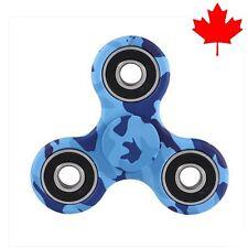 Fidget Tri Spinner EDC Stress Relief Focus Fun Toy - Blue Camo / Camouflage