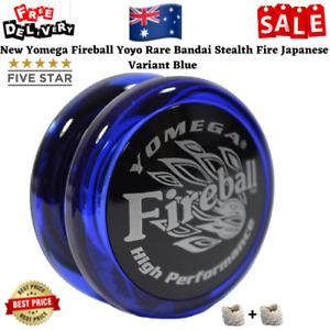 New Yomega Fireball Yoyo Rare Bandai Stealth Fire Japanese Variant Blue AU