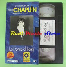 film VHS cartonata LA DONNA DI PARIGI Charlie Chaplin DEAGOSTINI (F15) no dvd